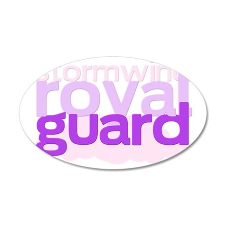 stormwind royal guard 35x21 Oval Wall Decal