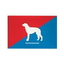 Deerhound Rectangle Magnet