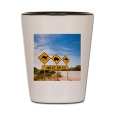 Famous Australian Sign Camels Wombats K Shot Glass