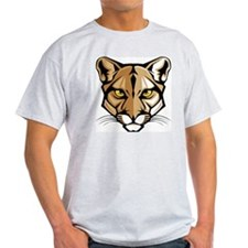 Cougar Panther Mascot Head T-Shirt