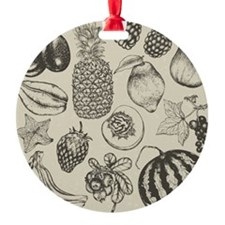 Hand-drawn set of fruit and berries Ornament