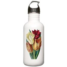 Vintage Tulips Water Bottle
