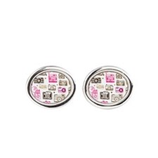 Photo camera pattern Cufflinks