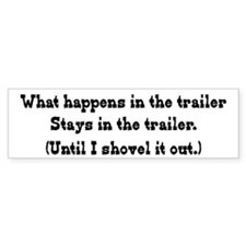 What Happens in the Trailer Bumper Car Sticker