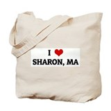 I Love SHARON, MA Tote Bag