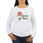 Flower Garden Diva Women's Long Sleeve T-Shirt