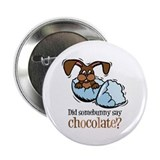"Somebunny Chocolate 2.25"" Button (10 pack)"