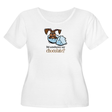 Somebunny Chocolate Women's Plus Size Scoop Neck T