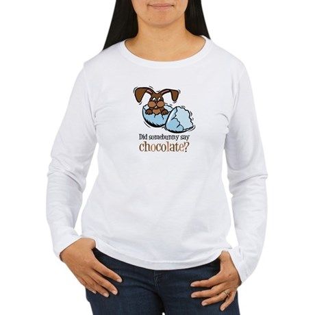 Somebunny Chocolate Women's Long Sleeve T-Shirt