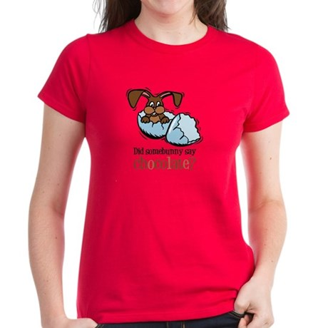 Somebunny Chocolate Women's Dark T-Shirt