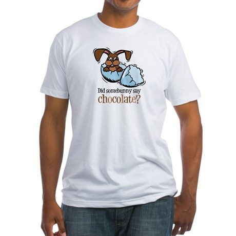 Somebunny Chocolate Fitted T-Shirt