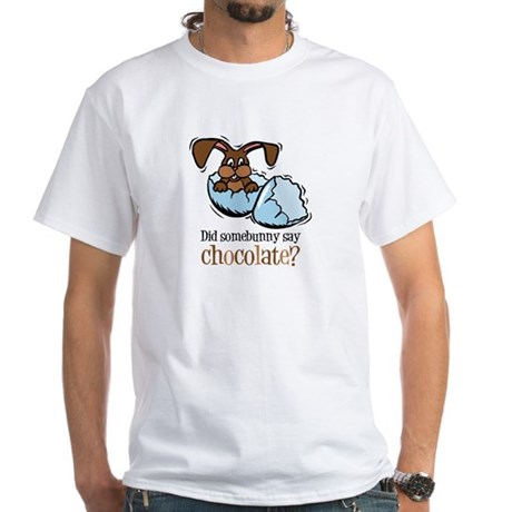 Somebunny Chocolate White T-Shirt