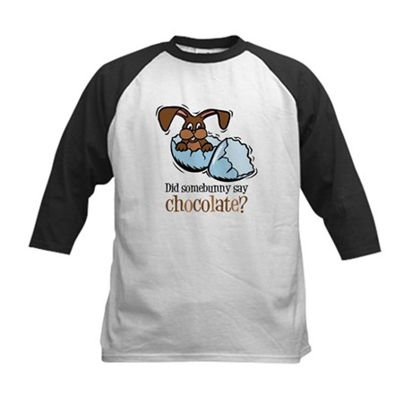 Somebunny Chocolate Kids Baseball Jersey