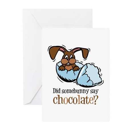 Somebunny Chocolate Greeting Cards (Pk of 10)