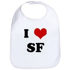 I Love SF Bib