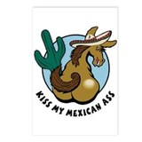 Kiss My Mexican Ass Postcards (Package of 8)