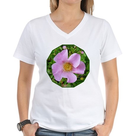 California Wild Rose Women's V-Neck T-Shirt