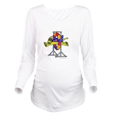 Super Doggie Jump Long Sleeve Maternity T-Shirt