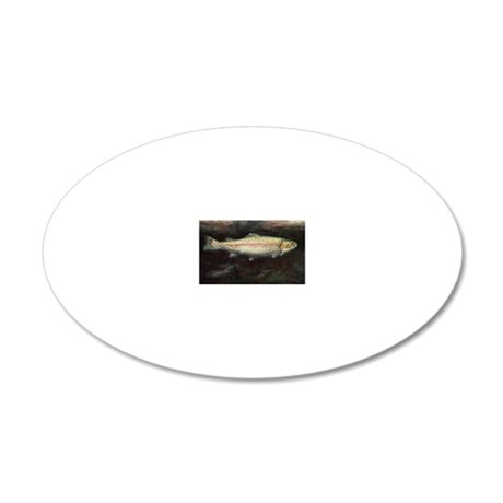 Trout 20x12 Oval Wall Decal