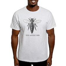Queen Bee Vintage Line Art T-Shirt