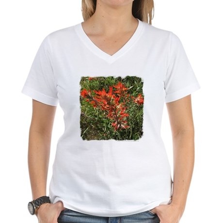 Indian Paintbrush Women's V-Neck T-Shirt