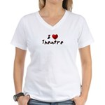 I (heart) Theatre Women's V-Neck T-Shirt