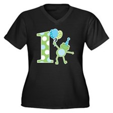 Leap Frog 1s Women's Plus Size Dark V-Neck T-Shirt
