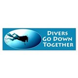 Divers Bumper Bumper Sticker