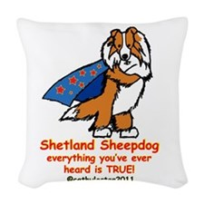 SABLEsupersheltie.png Woven Throw Pillow