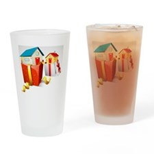 illustration of house in gift pack  Drinking Glass