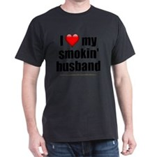 I Love My Smoking Husband lightappare T-Shirt