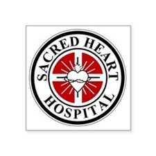"sacred heart logo Square Sticker 3"" x 3"""