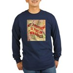 Flat New Mexico Long Sleeve Dark T-Shirt