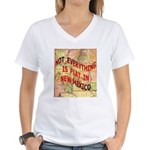 Flat New Mexico Women's V-Neck T-Shirt