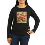 Flat New Mexico Women's Long Sleeve Dark T-Shirt