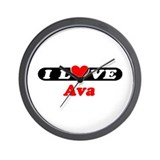 I Love Ava Wall Clock