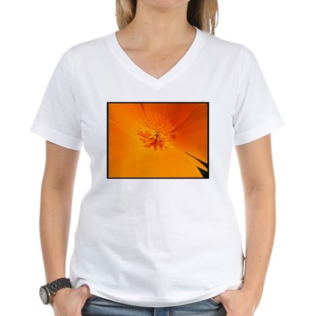 California Poppy Women's V-Neck T-Shirt