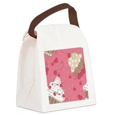 seamless cupcake pattern Canvas Lunch Bag