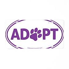 Adopt Purple Aluminum License Plate