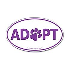 Adopt Purple 35x21 Oval Wall Decal