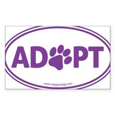 Adopt Purple Decal