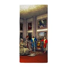 Your photo in a historical art gallery Beach Towel