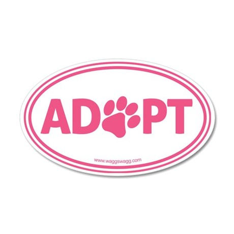 Adopt Pink 35x21 Oval Wall Decal