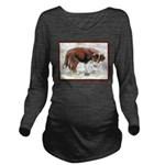 PuppyGrasshopper.png Long Sleeve Maternity T-Shirt