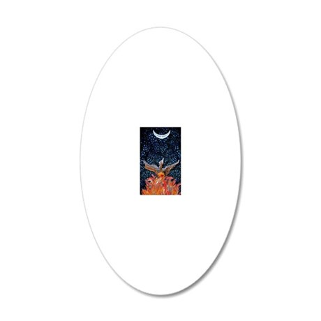 Phoenix Rising Lt 20x12 Oval Wall Decal