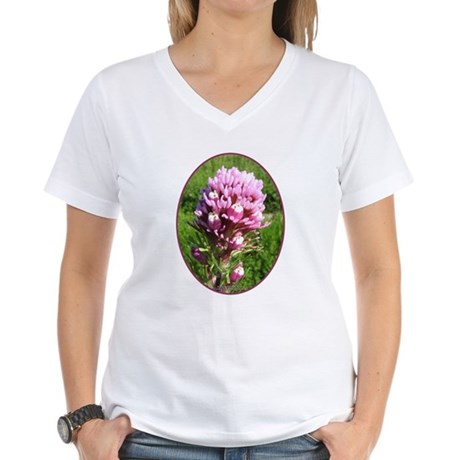 Purple Owl's Clover Women's V-Neck T-Shirt