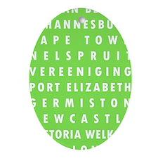 Celery SA Cities Oval Ornament