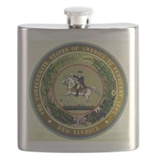 Seal of the Confederacy Flask