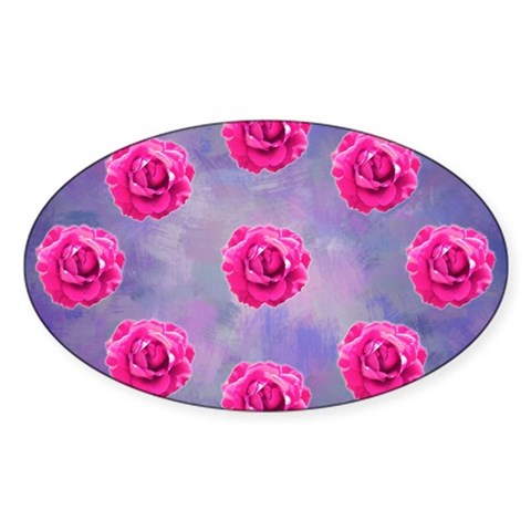 Rose ornament on pink and purp Decal