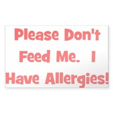 Please Don't Feed Me - Allerg Sticker (Rectangular